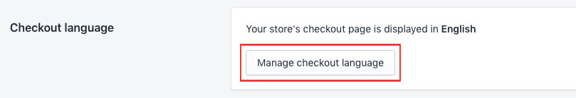 Manage checkout languahe in shopify