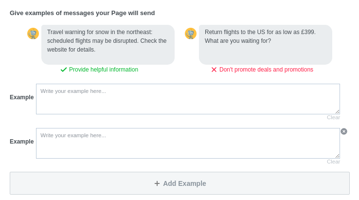 Examples of helpful news your facebook messenger bot will send