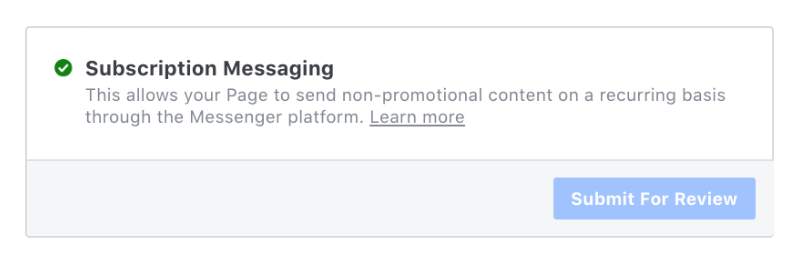 Subscription Messaging send for approval